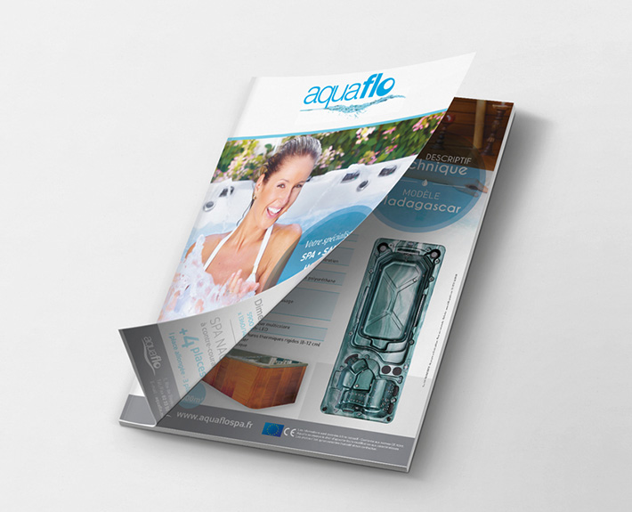 supports publicitaires, catalogue Aquaflo
