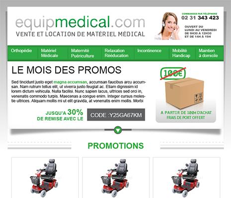 création de site web à rennes, site internet equipmedical.com