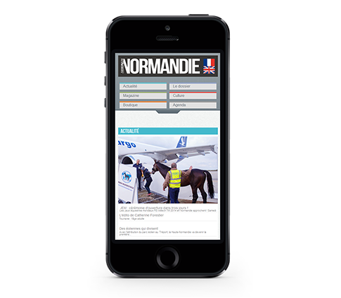 création de site web à rennes, site sur smartphone Normandie Magazine