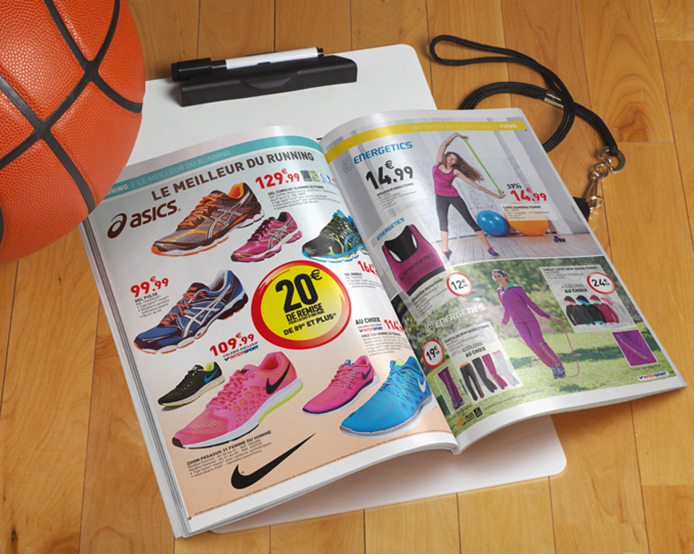 supports publicitaires, catalogue Intersport