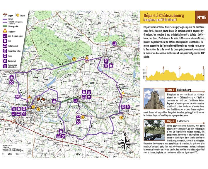 portfolio à Caen et Vire, carte imprimée Pays Touristique Les Portes de Bretagne