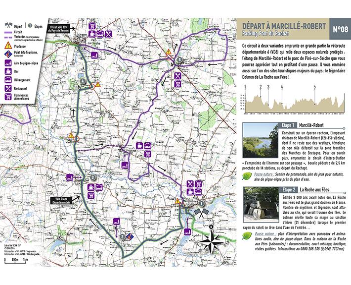 portfolio à Caen et Vire, dépliant carte du pays touristiques des portes de Bretagne
