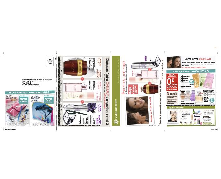 portfolio à Caen et Vire, imprimés et coupons de réduction Yves Rocher