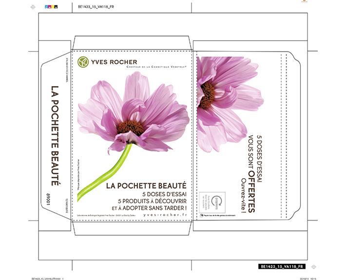 portfolio à Caen et Vire, carte de promotions Yves Rocher