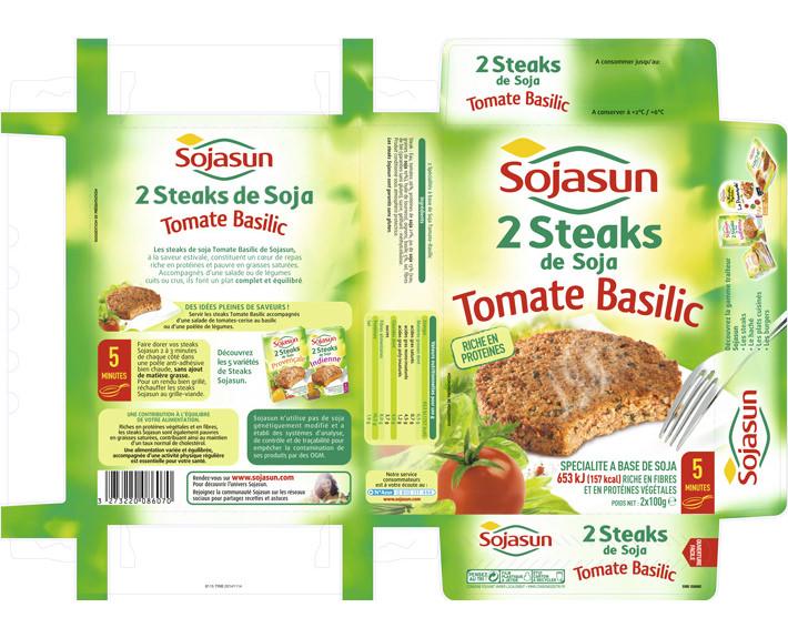 agence de communication à caen; packaging Sojasun 2 steaks