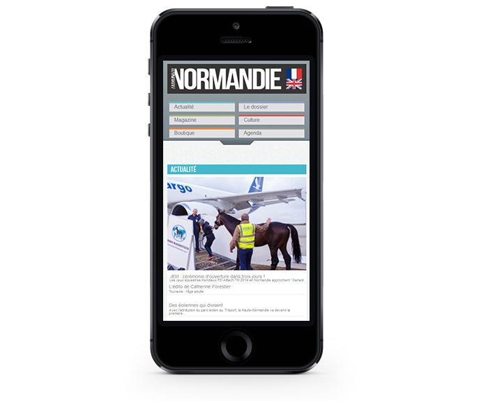 portfolio à rennes, site web responsive Normandie Magazine