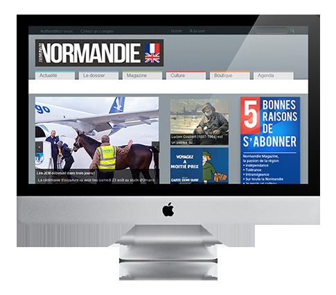 création de site web à rennes, site internet Normandie Magazine