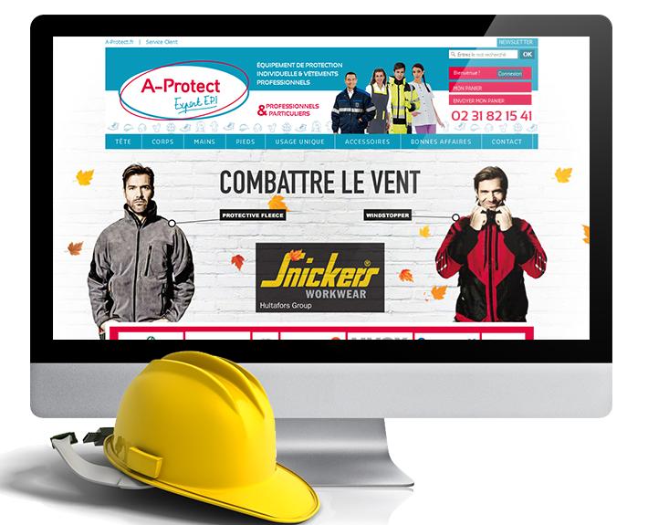 création de site web à rennes, site e-commerce A-Protect