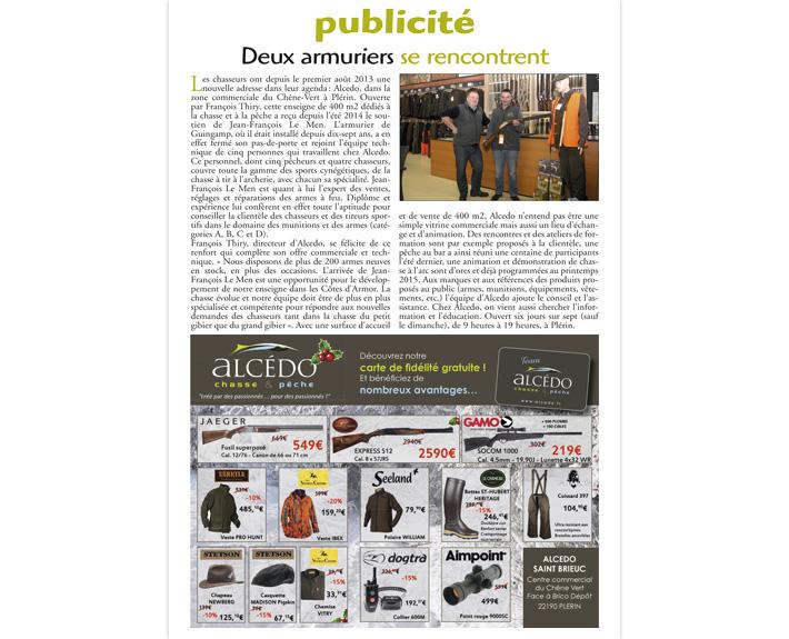 portfolio à Caen et Vire, publicité 2 armuriers se rencontrent