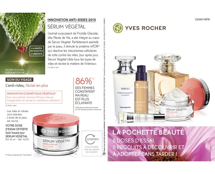 portfolio à Caen et Vire, pochette publicitaire Yves Rocher