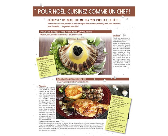 portfolio à Caen et Vire, article Pour noël, cuisinez comme un chef !