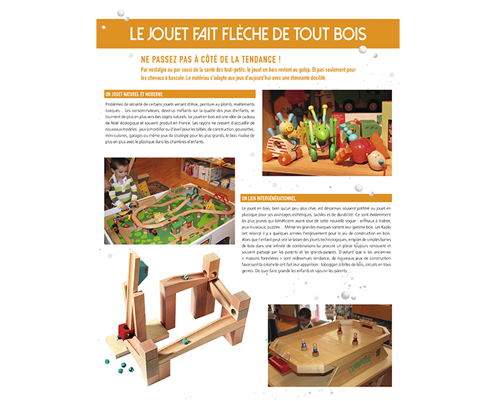 portfolio à Caen et Vire, article Le jouet fait flêche de tout bois