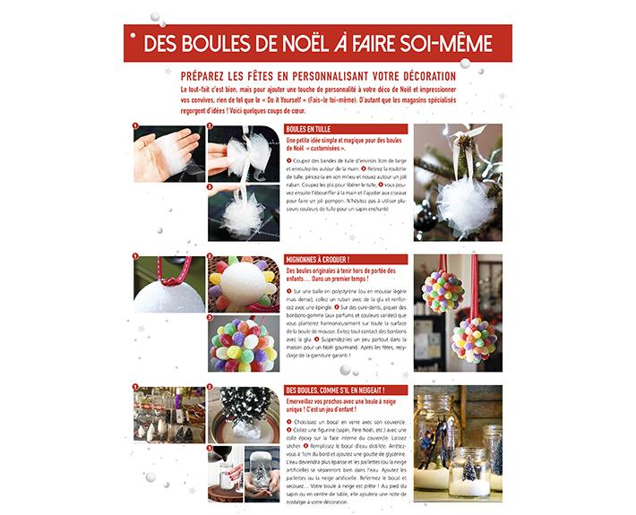 portfolio à Caen et Vire, article des boules de noël à faire soi-même